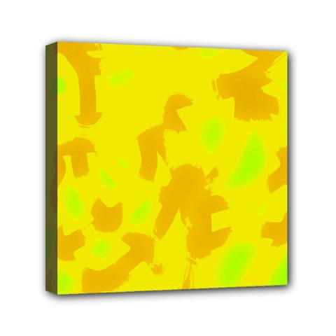 Simple Yellow Mini Canvas 6  X 6  by Valentinaart