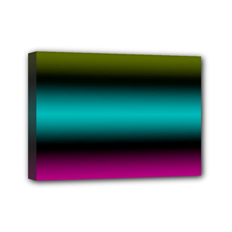 Dark Green Mint Blue Lilac Soft Gradient Mini Canvas 7  X 5  by designworld65