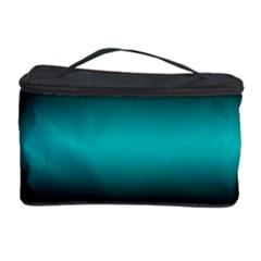 Dark Green Mint Blue Lilac Soft Gradient Cosmetic Storage Case by designworld65