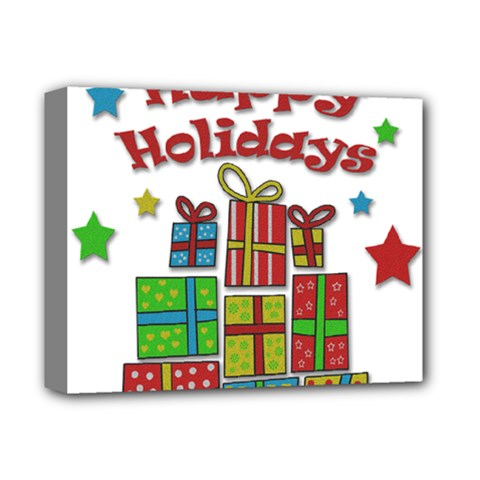 Happy Holidays   Gifts And Stars Deluxe Canvas 14  X 11  by Valentinaart