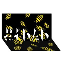 Decorative Bees #1 Dad 3d Greeting Card (8x4) by Valentinaart