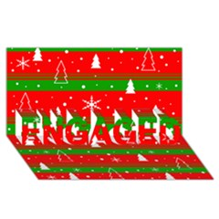 Xmas Pattern Engaged 3d Greeting Card (8x4) by Valentinaart