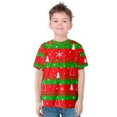 Xmas pattern Kids  Cotton Tee by Valentinaart