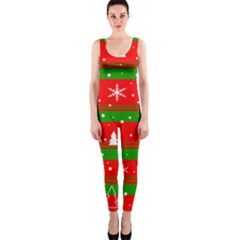 Xmas Pattern Onepiece Catsuit by Valentinaart