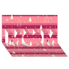 Pink Xmas Mom 3d Greeting Card (8x4) by Valentinaart