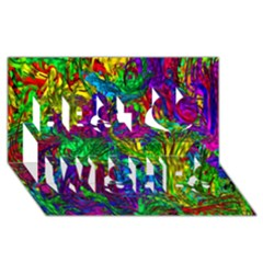 Hot Liquid Abstract A Best Wish 3d Greeting Card (8x4) by MoreColorsinLife