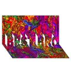 Hot Liquid Abstract B  Best Bro 3d Greeting Card (8x4) by MoreColorsinLife