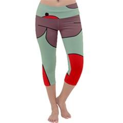 Nature Capri Yoga Leggings by Valentinaart