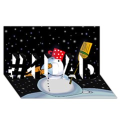 Lonely Snowman #1 Dad 3d Greeting Card (8x4)
