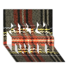 Fabric Texture Tartan Color  Get Well 3d Greeting Card (7x5) by AnjaniArt