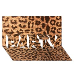Leopard Print Animal Print Backdrop Party 3d Greeting Card (8x4) by AnjaniArt