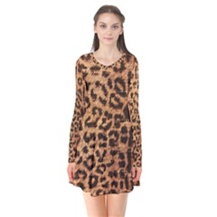 Leopard Print Animal Print Backdrop Flare Dress by AnjaniArt