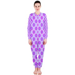 Pastel Pink Mod Circles OnePiece Jumpsuit (Ladies)  by BrightVibesDesign