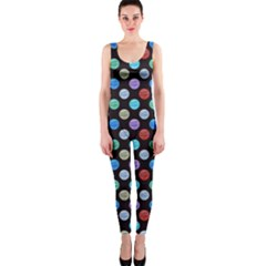 Death Star Polka Dots In Multicolour Onepiece Catsuit by fashionnarwhal