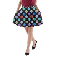 Death Star Polka Dots In Multicolour A Line Pocket Skirt by fashionnarwhal