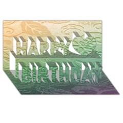 Plants Nature Botanical Botany Happy Birthday 3d Greeting Card (8x4) by AnjaniArt