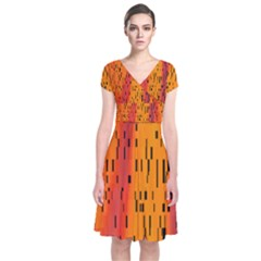 Clothing (20)6k,kgbng Short Sleeve Front Wrap Dress by MRTACPANS