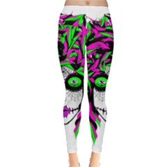 Spidie Lady Sugar Skull Leggings  by burpdesignsA
