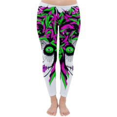 Spidie Lady Sugar Skull Winter Leggings  by burpdesignsA