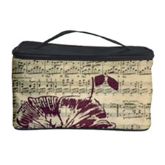 Vintage Music Sheet Song Musical Cosmetic Storage Case by AnjaniArt