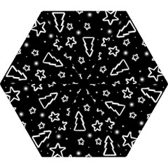Black And White Xmas Mini Folding Umbrellas by Valentinaart