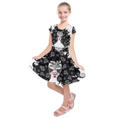 Gypsy Vampire Kids  Short Sleeve Dress by burpdesignsA