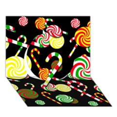 Xmas Candies  Circle 3d Greeting Card (7x5) by Valentinaart