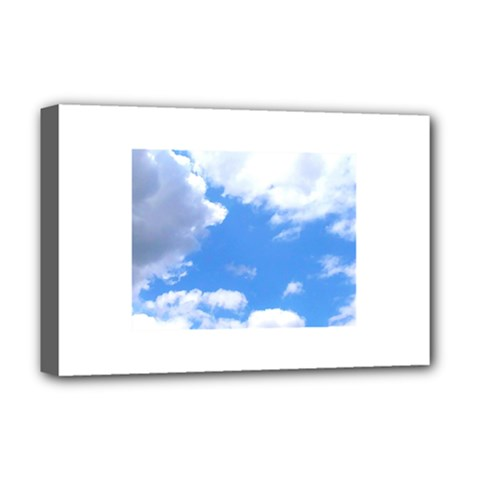 Clouds And Blue Sky Deluxe Canvas 18  X 12   by picsaspassion