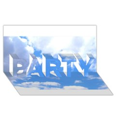 Clouds And Blue Sky Party 3d Greeting Card (8x4) by picsaspassion
