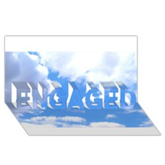 Clouds And Blue Sky Engaged 3d Greeting Card (8x4) by picsaspassion