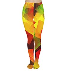 Indian Summer Cubes Women s Tights by designworld65