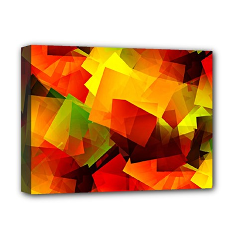 Indian Summer Cubes Deluxe Canvas 16  X 12   by designworld65