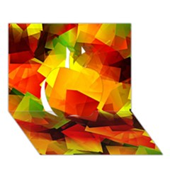 Indian Summer Cubes Apple 3d Greeting Card (7x5) by designworld65