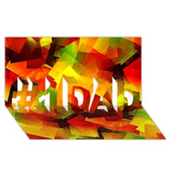Indian Summer Cubes #1 Dad 3d Greeting Card (8x4) by designworld65