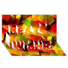 Indian Summer Cubes Best Wish 3d Greeting Card (8x4) by designworld65