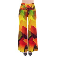 Indian Summer Cubes Women s Chic Palazzo Pants by designworld65
