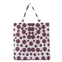 Shimmering Polka Dots Grocery Tote Bag by pepitasart