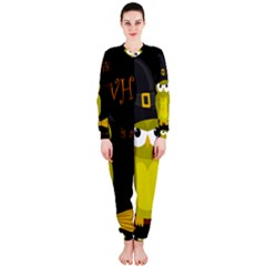 Who Is A Witch?   Yellow Onepiece Jumpsuit (ladies)  by Valentinaart