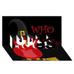 Who Is A Witch?   Red Hugs 3d Greeting Card (8x4) by Valentinaart