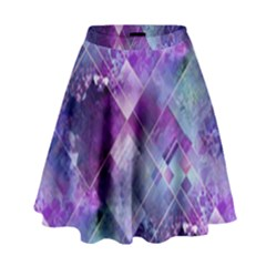 Marbleized Amethyst High Waist Skirt by KirstenStar