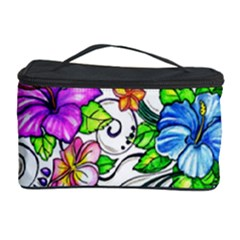 Tropical Hibiscus Flowers Cosmetic Storage Case by EverIris