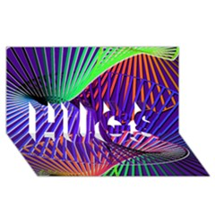 Colorful Rainbow Helix Hugs 3d Greeting Card (8x4) by designworld65