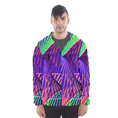 Colorful Rainbow Helix Hooded Wind Breaker (men) by designworld65