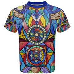Spiritual Guide - Men s Cotton Tee by tealswan