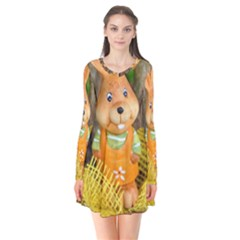 Easter Hare Easter Bunny  Flare Dress by Zeze