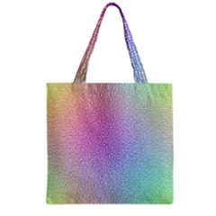 Rainbow Colorful Grid Grocery Tote Bag by designworld65