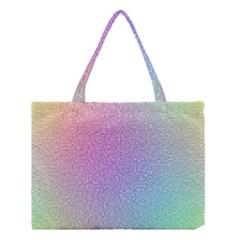 Rainbow Colorful Grid Medium Tote Bag