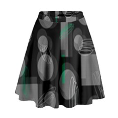 Come Down   Green High Waist Skirt by Valentinaart