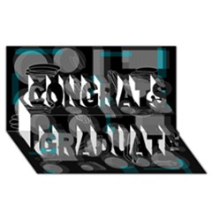 Come Down   Blue Congrats Graduate 3d Greeting Card (8x4) by Valentinaart