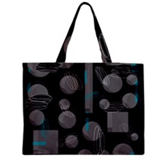 Come Down   Blue Medium Tote Bag by Valentinaart